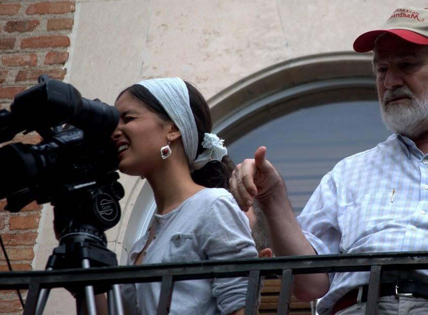 Gonzalo rodando Niñas con Candela Jiménez