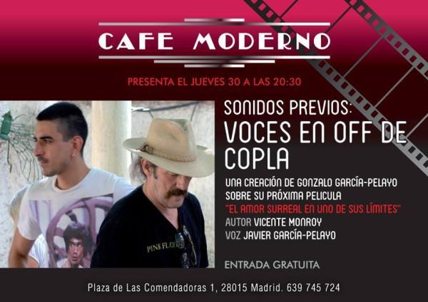 Cartel Off de Copla Café Moderno