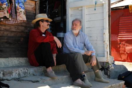 Javier y Gonzalo García-Pelayo en el rodaje de Alegrías de Cádiz