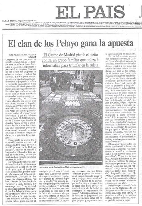 EL CLAN DE LOS PELAYOS GANA Y APUESTA