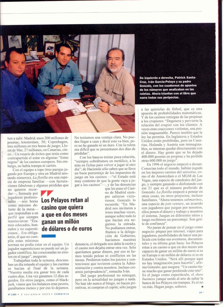 CAMBIO 16 2 29 OCTUBRE 2003 El arte de saltar la banca Los Pelayos
