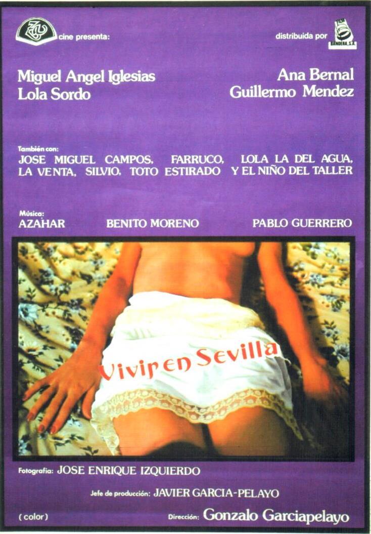 Cartel película Vivir en Sevilla de Gonzalo García Pelayo