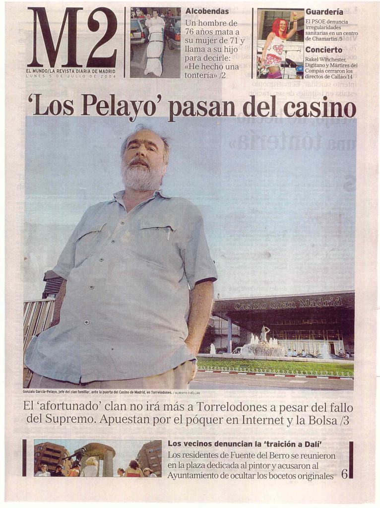 EL MUNDO 5 JULIO 2004 LOS PELAYOS PASAN DEL CASINO
