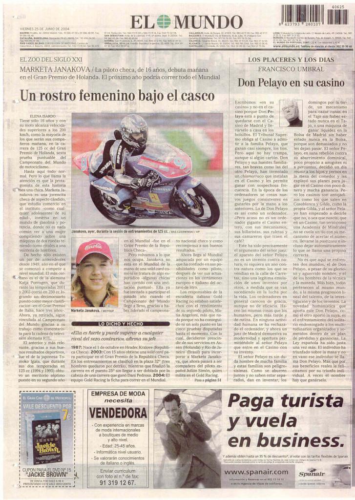 EL MUNDO FRANCISCO UMBRAL 25 JUNIO 2004