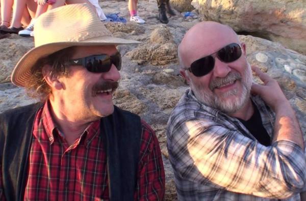 Javier y el Gomez en el rodaje de Alegrías de Cádiz