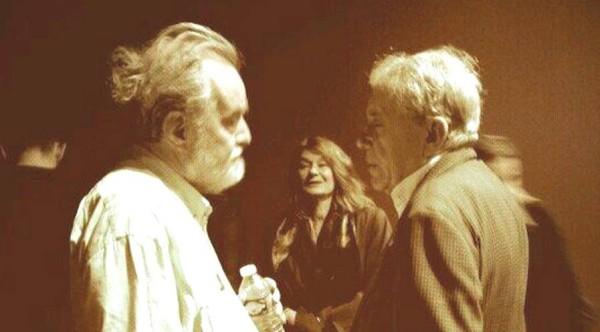 Jean Narboni y Gonzalo García Pelayo en el Jeu de Paume