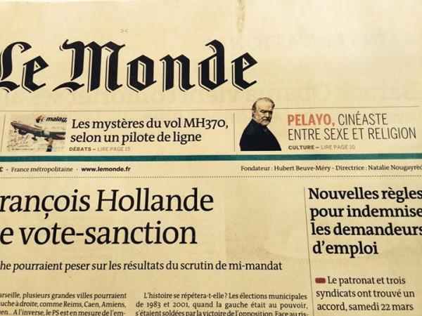 Gonzalo Garcia Pelayo Le Monde 2014