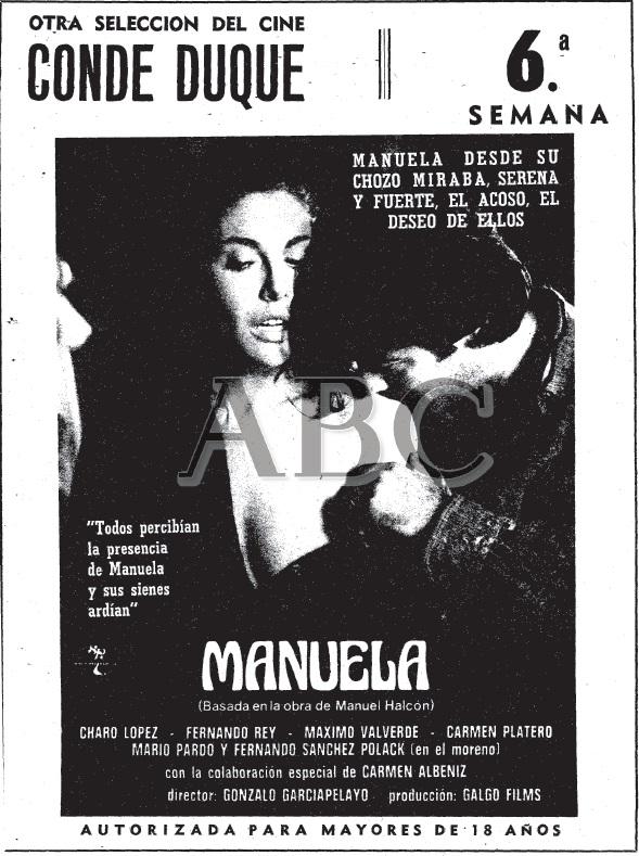 ABC Manuela en Conde duque 6semana Gonzalo García Pelayo