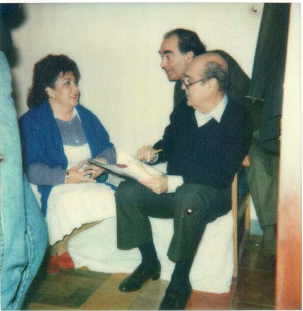 Ensayo de los protagonistas de Pensión el Patio, Gonzalo Garcia Pelayo para Canal Sur 1989
