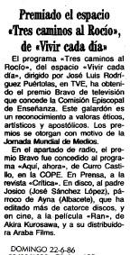 Tres caminos al Rocío, Vivir Cada dia, Gonzalo Garcia Pelayo