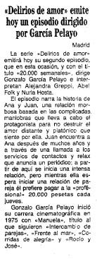 VEinte mil semanales, Gonzalo García Pelayo, Delirios de Amor, ABC